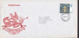 Great Britain Ersttag Brief FDC Cover 1976 Weihnachten Christmas Jul Noel Natale Navidad Angel Engel Cachet - 1971-1980 Dezimalausgaben