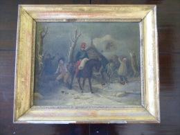1 er empire le Hussard campagne de Russie Huile sur toile d'epoque