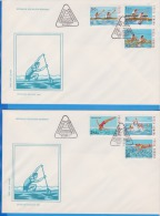 ROMANIA FDC Water Sports, Kayaking, Water Polo - FDC