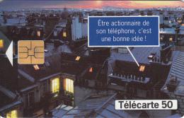TELECARTE 50 UNITES / FRANCE TELECOM - ETRE ACTIONNAIRE DE SON TELEPHONE - France
