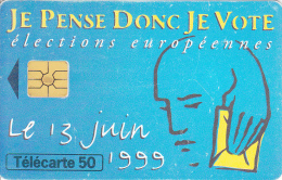 TELECARTE 50 UNITES / ELECTIONS EUROPEENNES 1999 - 600 Agences