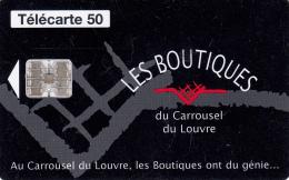TELECARTE 50 UNITES / LES BOUTIQUES DU CARROUSEL DU LOUVRE - 600 Agences