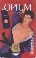 TELECARTE 50 UNITES / PARFUM YVES SAINT LAURENT - OPIUM POUR HOMME - France