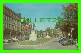 BROCKVILLE, ONTARIO - WAR MEMORIAL - ANIMATED WITH OLD CARS - BRYAN NEWS AGENCY - - Brockville
