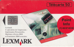 TELECARTE 50 UNITES / LEXMARK SPECIALISTE DE L'IMPRESSION (7000 EX) - 600 Agences