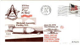 SPACE - USA - 1979 - SHUTTLE  ASSEMLY FACILITY NO   COVER WITH NEW ORLEANS    POSTMARK   * - Stati Uniti