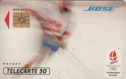 TELECARTE 50 UNITES / JEUX OLYMPIQUES HIVER - ALBERTVILLE 1992 - HOCKEY SUR GLACE Avec BOSE PARTENAIRE OFFICIEL - France