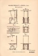 Original Patentschrift - Wilhelm Weishaupt In Engers B. Neuwied , 1884 , Bürotisch , Tisch , Möbel !!! - Möbel