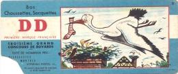 Buvard DD Bas Et Chaussettes - Concours N°8  - Textile Chaussures - CIGOGNE   - Illustrateur Maurice Parent - Textile & Clothing