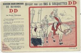 Buvard DD Bas Et Chaussettes - Concours DES PHRASES HIST - Textile Chaussures  - Illustrateur GAD - Kleding & Textiel