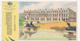 Buvard Petit Format - Biscottes Grégoire - Château Versailles - Biscottes