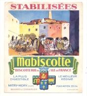 Buvard MABISCOTTE Biscotterie De L Ile De France  - Mitry Mory - Scene Afrique Du Nord - Biscottes