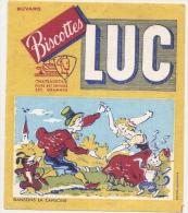 - BUVARD / BLOTTER /  Biscottes LUC  Dansons La Capucine  - Chateauroux - Biscottes