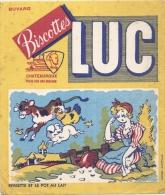 - BUVARD / BLOTTER /  Biscottes LUC  Pierrette Et Le Pot Au Lait   - Chateauroux - Biscottes