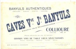 - BUVARD / BLOTTER /  Caves  Veuve  Jh Banyuls - Collioures - VIN Et Alcool - Blotters