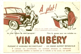 - BUVARD / BLOTTER /  VINS  Aubery  - VIN Et Alcool - Buvards, Protège-cahiers Illustrés