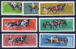 HUNGARY 1961 Equestrian Sports Set Of 7 MNH / **.  Michel 1776-82 - Hungary
