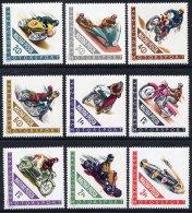 HUNGARY 1962 Motor Cycle Sports Set Of 9 MNH / **.  Michel 1889-97 - Motorbikes