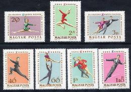 HUNGARY 1963 European Figure Skating Championships Set Of 7 MNH / **.  Michel 1898-904o - Hungary