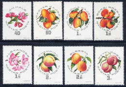 HUNGARY 1964 Peach And Apricot Exhibition Set Of 8 MNH / **.  Michel 2044-51 - Hungary