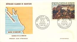 MAURITANIE  1966  Tableau Géricault: Le Radeau De La Méduse   Poste Aérienne -  FDC Non-adressé - Mauritania (1960-...)