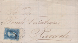 G)1880 MEXICO, HIDALGO ISSUE 25 CTS. S.L. POTOSI 1778, CIRCULATED COVER TO RIOVERDE, XF - Mexico
