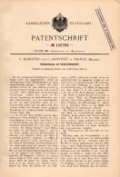 Original Patentschrift - V. Hanotier Und G. Hostelet In Chimay , 1896 , Acetylen - Lampe . Gaslampe !!! - Luminaires