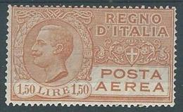 1926-28 REGNO POSTA AEREA EFFIGIE 1,50 LIRE MH * - ED361 - Luchtpost