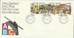 NEW ZEALAND NUOVA ZELANDA 1977 ABC EDUCATION EDUCAZIONE FDC FIRST DAY COVER - FDC