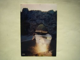 CPM  Le Pont D'arc  Au Coucher Du Soleil - Ardèche - 07 - - Francia