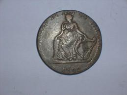 Token Half Penny North Wales ShaKespeare. 1792 (5317) - 1662-1816 : Acuñaciones Antiguas Fin XVII° - Inicio XIX° S.