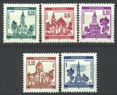Croatia 1995 Serbian Krajina, Churches I, Architecture, Set MNH - Croatie