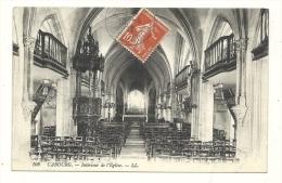 Cp, 14, Cabourg, Intérieur De L´Eglise, Voyagée 1912 - Cabourg