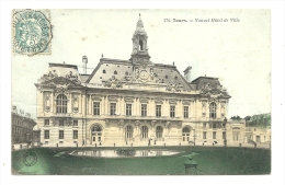 Cp, 37, Tours, Nouvel Hôtel De Ville, Voyagée 1904 - Tours