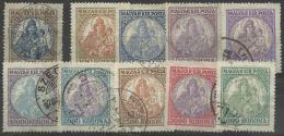 HUNGARY - 1921-25 Madonna. Scott 378-387. Used - Hungría