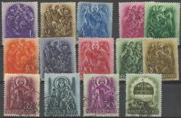 HUNGARY - 1938 St Stephen. Scott 511-524. Used - Hungría