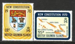Solomon Islands 208-9  **  NEW CONSTITUTION MAP ARMS - Solomon Islands (1978-...)
