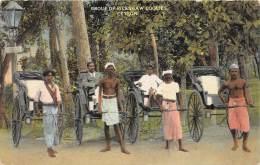 14118   Sri Lanka  Ceylon,   Group Of Rickshaw Coolies - Sri Lanka (Ceylon)
