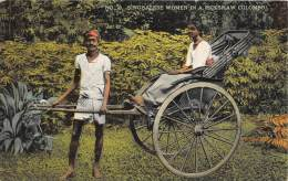 Sri Lanka Ceylon     Singhalese Women In A Rickshaw - Asia