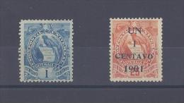 GUATEMALA. Emblème National Et Timbre Surchargé - Guatemala