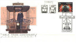 (PH 130) Australia - 1985 - Cover For Melbourne Cable Tram Centenary - Tramways