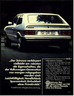 Reklame Werbeanzeige  -  VW Scirocco  -  Das Sport-Coupe -  Von 1975 - KFZ