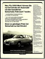 Reklame Werbeanzeige  - Citroen GS  -  Fahren Wie Gott In Frankreich  -  Von 1976 - KFZ