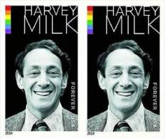 USA 2014 Harvey Milk Imperforated HORIZONTAL PAIR  MNH - Multiples & Strips