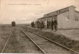 Carte Nieuwpoort  Reconstruction De Nieuport 1920  La Station  Animée - Nieuwpoort