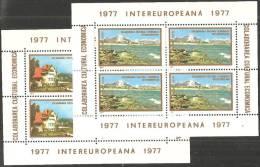 Romania 1977 BF Nuovo** - Mi.141/2  Yv.3033/4 - Blocchi & Foglietti