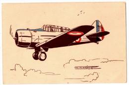 CPA Aviation Militaire, NORTH AMERICAN (BT 9) Biplace D´entraînement, Dessin Noetinger - Flugzeuge