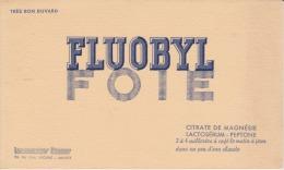 Buvard - FLUOBYL FOIE - - Produits Pharmaceutiques