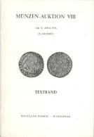 Katalog Münzen-Auktion VIII 15. 4. 1976 Bielefeld Wolfgang Winkel Deutschland Numismatik Münze Coins Coin - Literatur & Software
