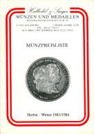 Münzpreisliste Halbedel & Saiger 1983/1984 Salzburg Katalog Münzen Österreich Numismatik Austria Autriche Coins - Literatur & Software